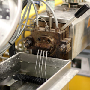 Natur-tec research and development lab extruder